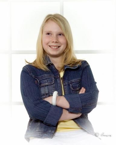 Professional Photo Child By Window