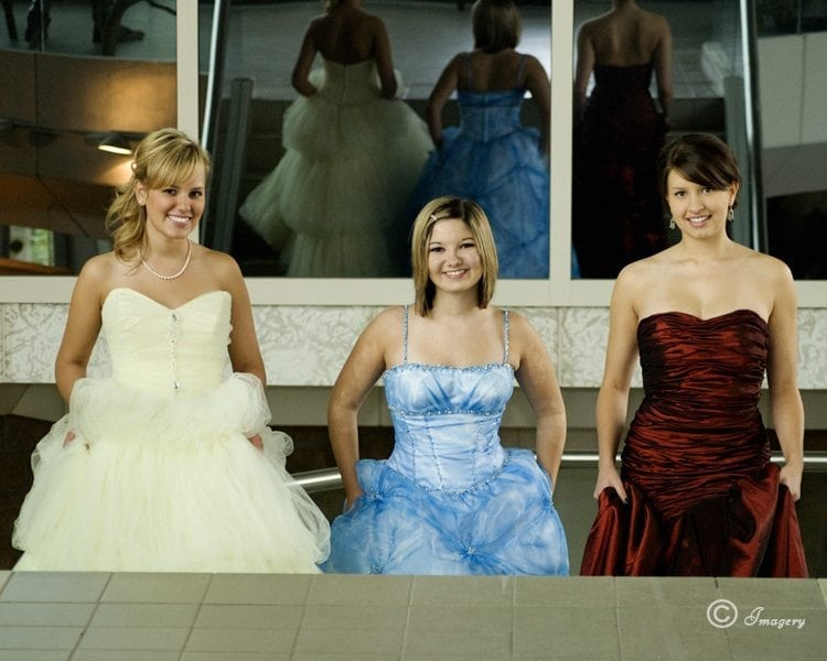 Professional Photo of Graduates in Dresses