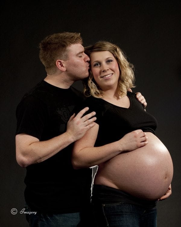 Professional Photograph of Husband and Pregnant Woman