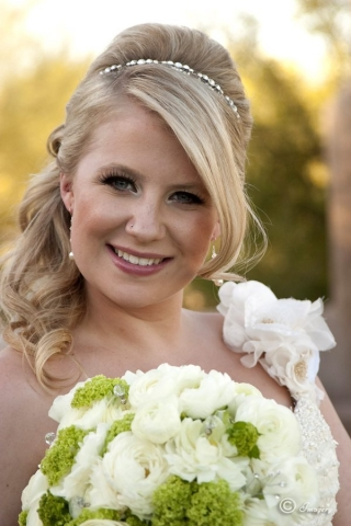 Professional Picture of Woman in Wedding Dress