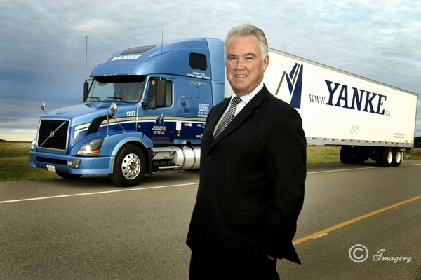 Professional Picture of Man in front of Truck