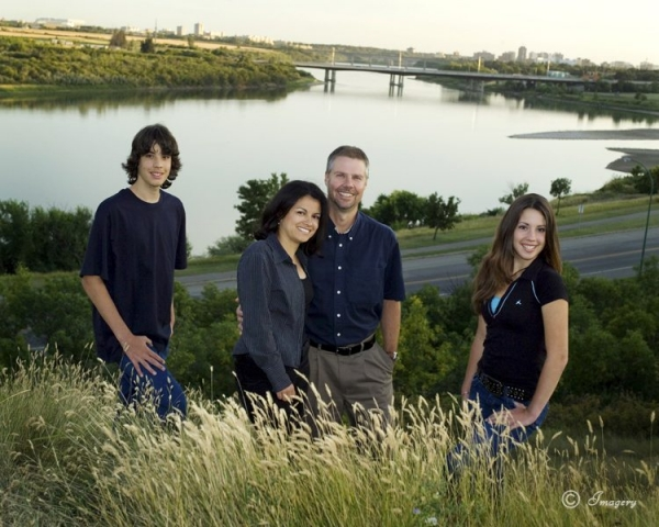 Professional Photo of Family in Park by River