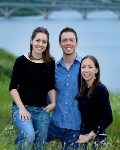 Professional Photo Family Outside River