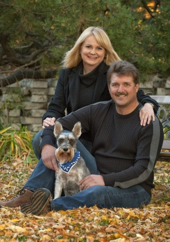 Professional Photo of Couple with Dog